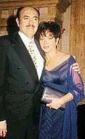 Ana Bertha Espín  con Roberto Sen