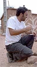 Iñárritu, en el rodaje de Babel