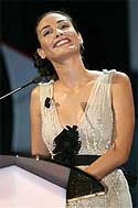 Inés Sastre, en la gala (AP)