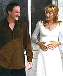 Tarantino y Uma Thurman (Kill Bill)