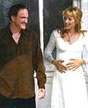 Tarantino y Uma Thurman (Kill Bill)