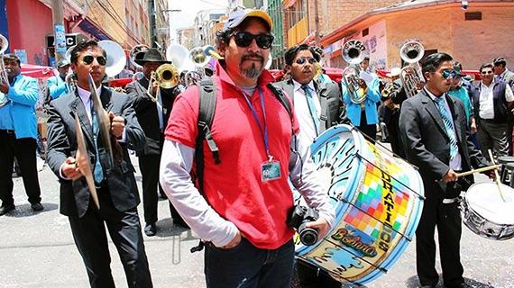 Okie Cárdenas, en el rodaje