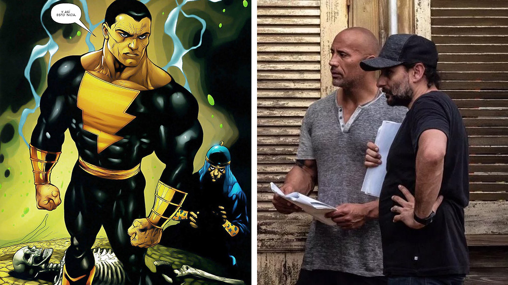 Black Adam, y Dwayne Johnson con Jaume Collet-Serra