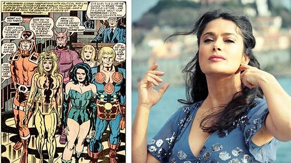 """The Eternals"" y Salma Hayek"