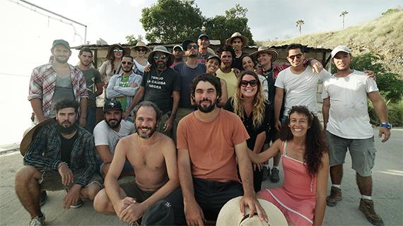 """El equipo de la película´independiente cubana """"Santa y Andrés"""""""