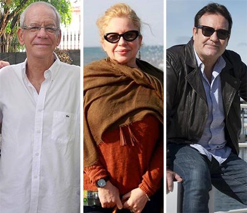 Gerardo Chijona, Isabel Santos y Jorge Perugorría