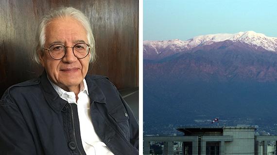 Guzmán y una imagen de los Andes