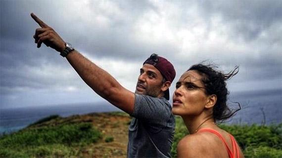"""Adria Arjona, con Oscar Isaac, en """"Triple Frontera"""""""