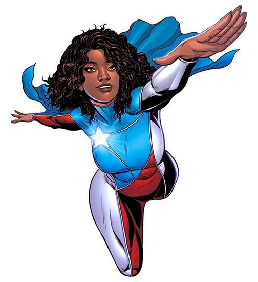 La Borinqueña, superheroína creada por el artista de Marvel Edgardo Miranda Rodríguez para la reconstrucción de Puerto Rico