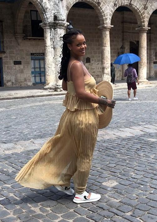 Rihanna, en La Habana