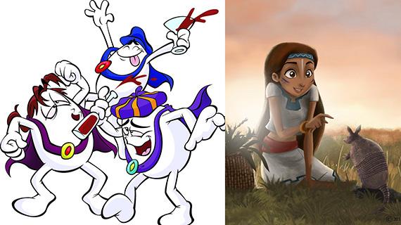 """Personajes de Huevo Cartoon y """"Tepeyac: La película"""""""