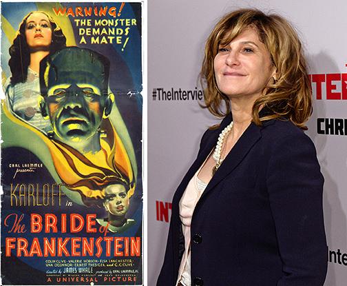 """""""La novia de Frankenstein"""" y Amy Pascal"""