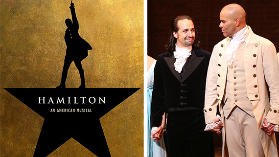 """""""Hamilton"""" y Miranda con Christopher Jackson"""