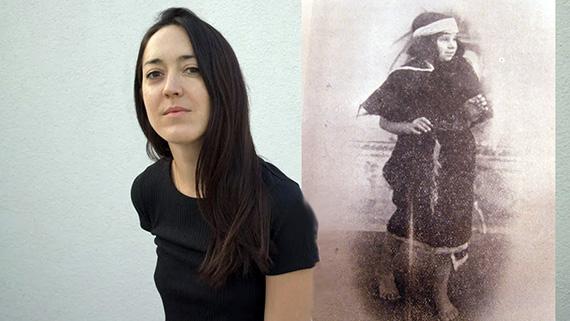 """Dominga Sotomayor y una de las pocas imágenes que quedan de """"La agonía de Arauco"""""""