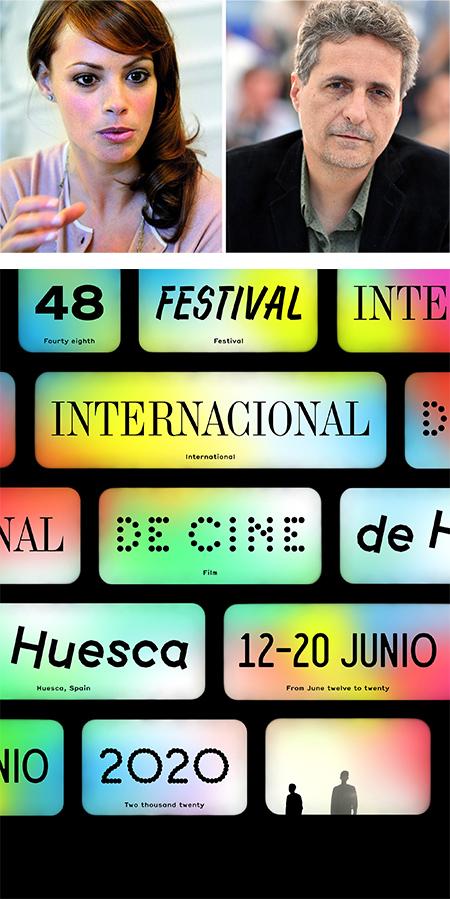 Bejo y Mendonça, y el cartel de Huesca