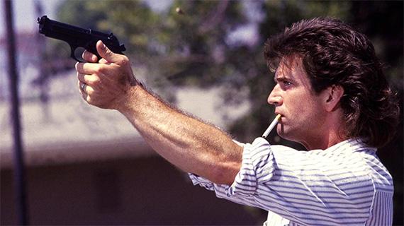 "Mel Gibson, en la saga ""Arma letal"""