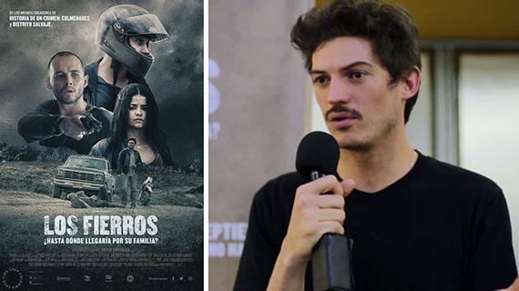 """Cartel de """"Los fierros"""" y Pablo González"""