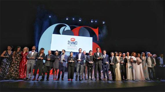 Algunos de los premiados en la Seminci 2019