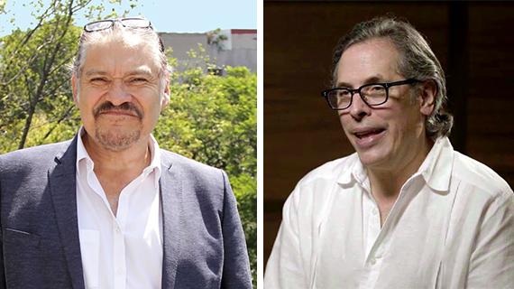 Joaquín Cosío y Rodrigo Prieto