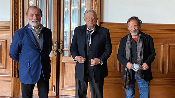 Ibarra, López Obrador y Alcázar