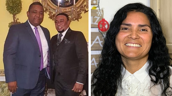 Victor Minaya, Anthony Santos y Liliana Bocanegra
