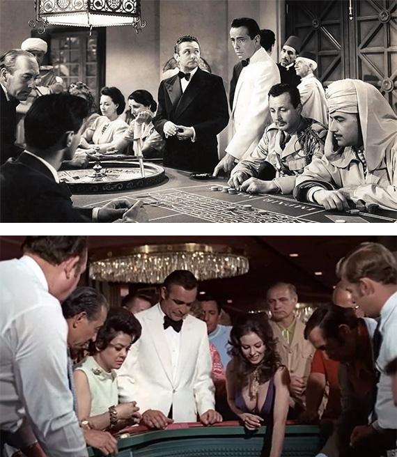 """""""Casablanca"""" y """"Diamantes para la eternidad"""""""