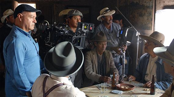 """Springall (izq.), en el rodaje de """"Sonora"""""""