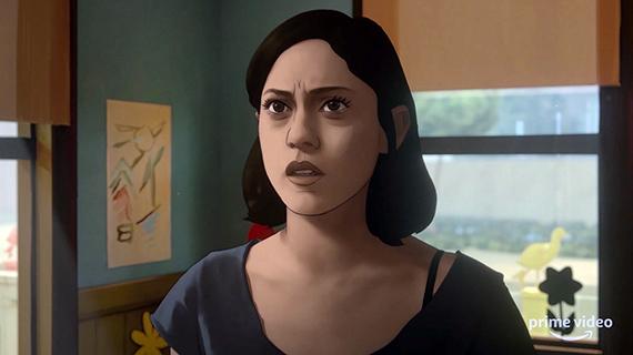 "Rosa Salazar, dibujada en ""Undone"""