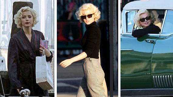 """Ana de Armas, en tres imágenes del rodaje de """"Blonde"""""""