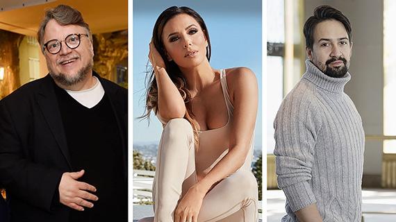 Guillermo del Toro, Eva Longoria y Lin-Manuel Miranda