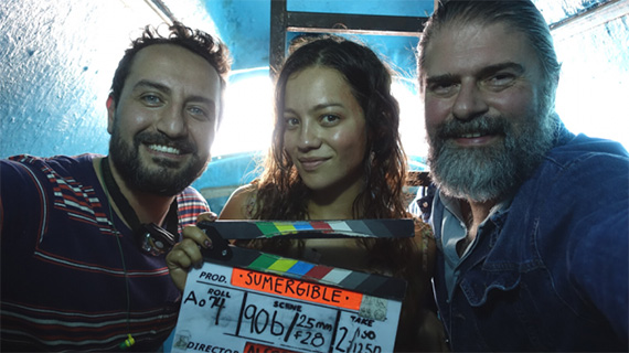 Alfredo León, Natalia Reyes y Sebastián Cordero