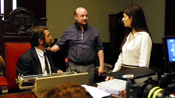 """Campanella, con Darín y Villamil, en el rodaje de """"El secreto de sus ojos"""""""