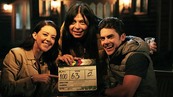 Tapia, con sus protagonistas