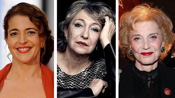 Nora Navas, Luisa Gavasa y Marisa Paredes