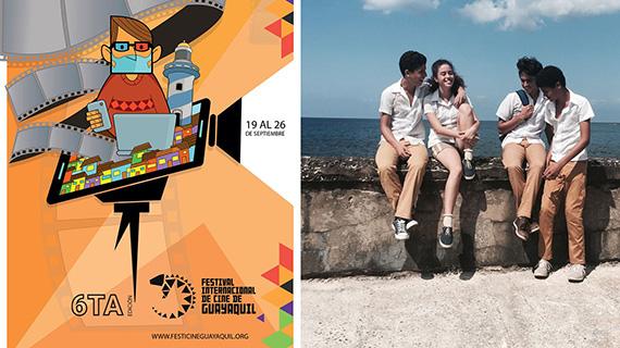 """Cartel del festival y """"Agosto"""""""