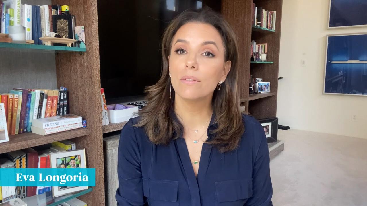 Eva Longoria, recomendando vacunas