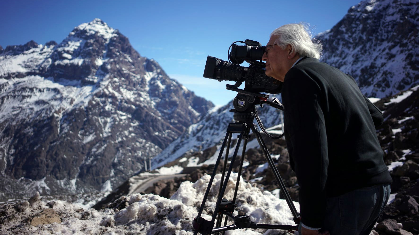 Guzmán filmando su película