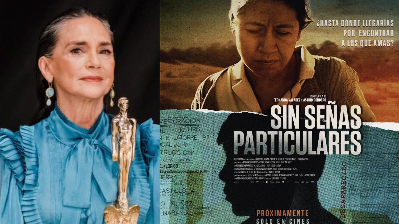 """Ofelia Medina y cartel de """"Sin señas particulares"""""""