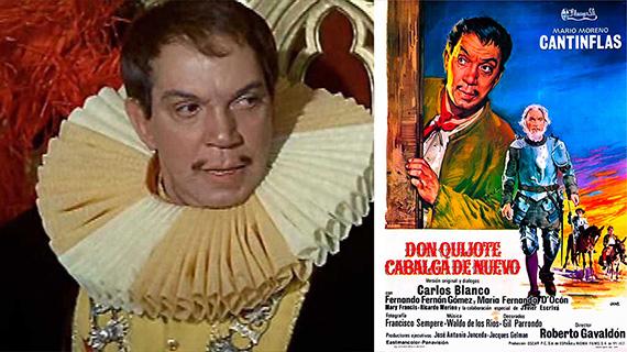 """Cantinflas, en """"Don Quijote cabalga de nuevo"""""""