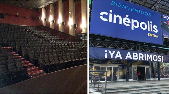 Cines chilenos vacíos y cerrados