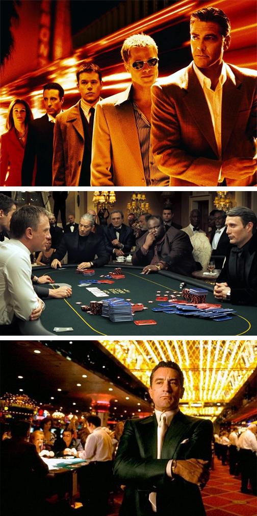 Tres películas en torno a los casinos