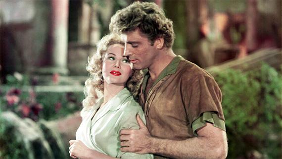 Virginia Mayo y Burt Lancaster