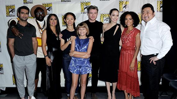 """El equipo de """"The Eternals"""" en la Comic-Con"""