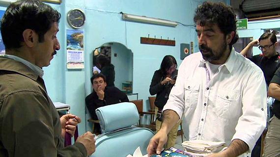 """Avila Dueñas, en el rodaje de """"El peluquero romántico"""""""