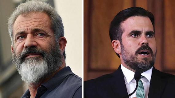 Mel Gibson y el gobernador Roselló