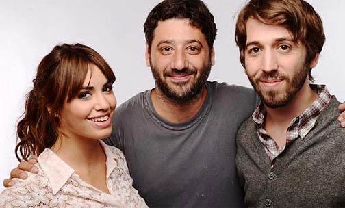 Lali, con el director y coprotagonista de su nueva película
