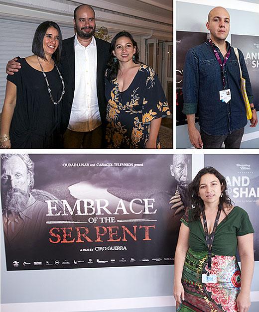 Adelfa Martínez, directora de Cinematografía, Ciro Guerra, Cristina Gallego y César Augusto Acevedo.