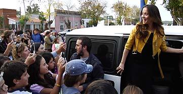 Oreiro, saludada por sus fans
