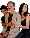 Trueba y sus dos jóvenes protagonistas (AP)