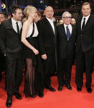 'Shutter island' al completo en Berlín: Mark Rufallo, Michelle Williams, Ben Kingsley, Scorsese, y DiCaprio